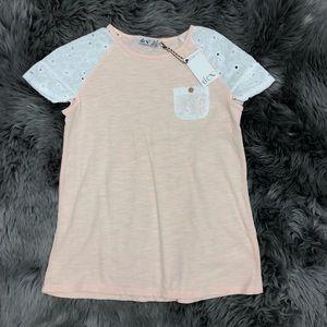 Dex Crochet Sleeve Short Sleeve : Size Large
